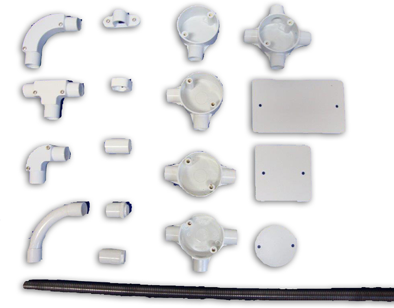 conduit accessories pemco progress electroplating manufacturing rh pemco ie Outdoor Wiring pvc conduit wiring accessories